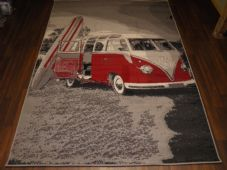 Modern Approx 6x4 120x170cm Woven Backed Camper Rugs Top Quality New Grey/Red